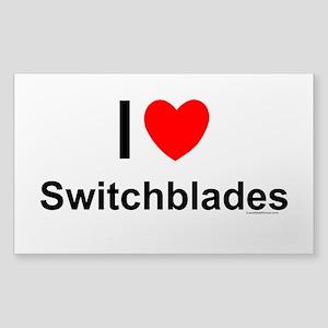 Switchblades Sticker (Rectangle)