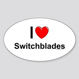 Switchblades Sticker (Oval)