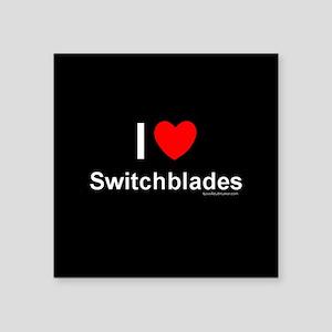 "Switchblades Square Sticker 3"" x 3"""