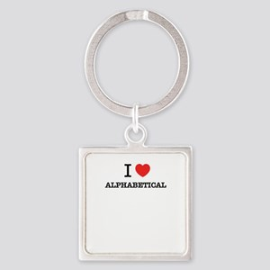 I Love ALPHABETICAL Keychains