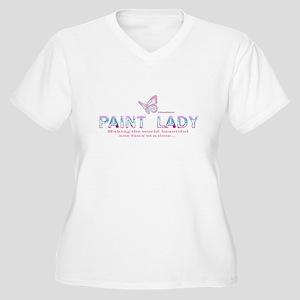 PAINT LADY Women's Plus Size V-Neck T-Shirt