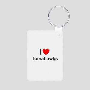 Tomahawks Aluminum Photo Keychain
