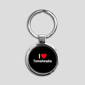 Tomahawks Round Keychain