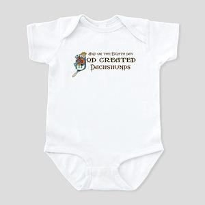 God Created Dachshunds Infant Bodysuit