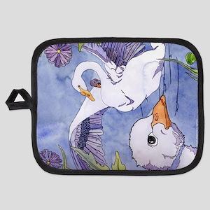 Swans Potholder