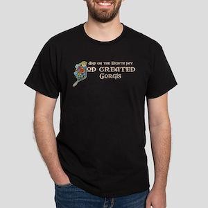 God Created Corgis Dark T-Shirt
