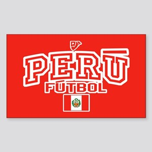 Peru Futbol/Soccer Sticker (Rectangle)