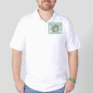 DONT TALK LOGO Golf Shirt