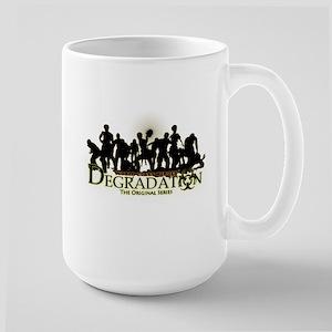 Degradation Zombies Silhouette 15 Oz Ceramic Mugs