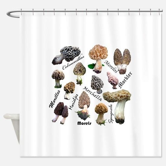 Morels Shower Curtain