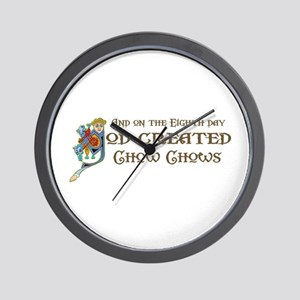 God Created Chows Wall Clock