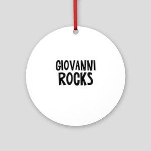 Giovanni Rocks Ornament (Round)