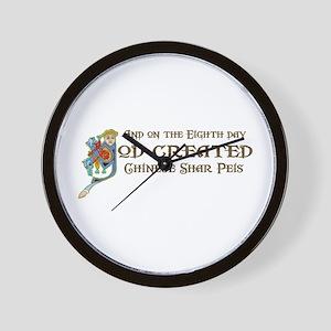 God Created Shar-Peis Wall Clock