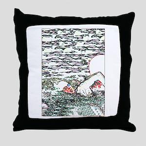 OPEN WATER SWIM Throw Pillow