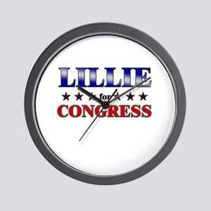 LILLIE for congress Wall Clock