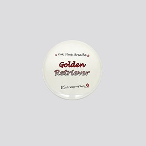 Golden Breathe Mini Button