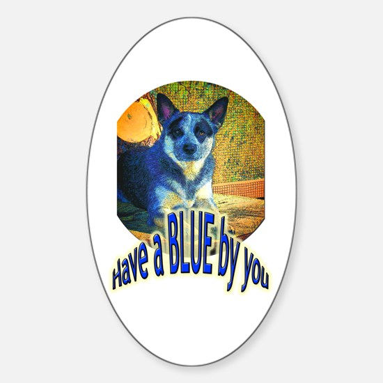 """Blue By You"" Sticker (Oval)"