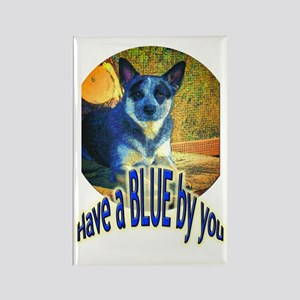 """""""Blue By You"""" Rectangle Magnet"""