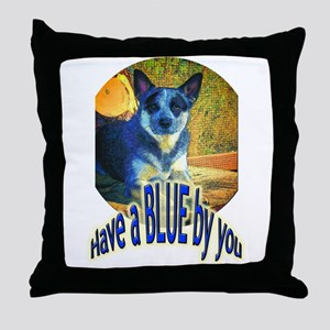 """""""Blue By You"""" Throw Pillow"""