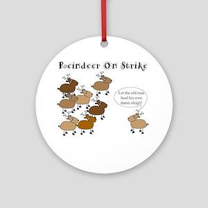 Reindeer on Strike Ornament (Round)