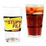 Stuph_file_logo Drinking Glass