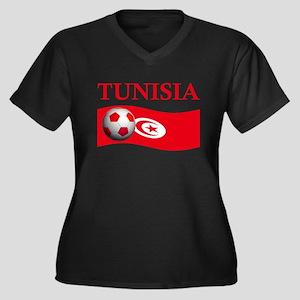 TEAM TUNISIA WORLD CUP Women's Plus Size V-Neck Da