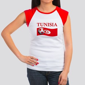 TEAM TUNISIA WORLD CUP Women's Cap Sleeve T-Shirt