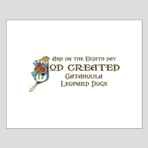 God Created Catahoulas Small Poster