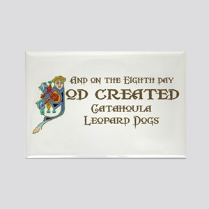 God Created Catahoulas Rectangle Magnet