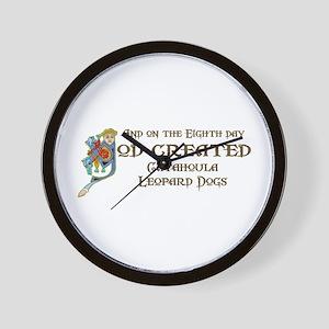 God Created Catahoulas Wall Clock