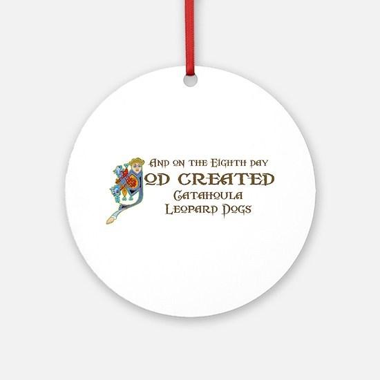 God Created Catahoulas Ornament (Round)