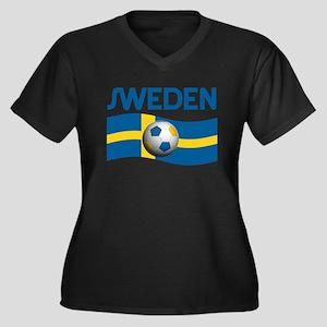 TEAM SWEDEN WORLD CUP Women's Plus Size V-Neck Dar