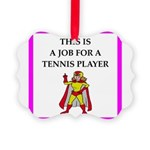 tennis joke Ornament