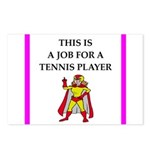 tennis joke Postcards (Package of 8)