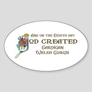 God Created Cardigans Oval Sticker