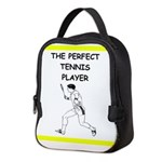 tennis joke Neoprene Lunch Bag