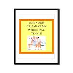 tennis joke Framed Panel Print