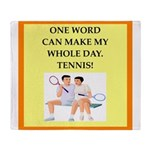 tennis joke Throw Blanket