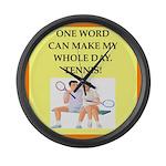 tennis joke Large Wall Clock