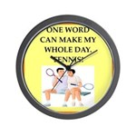 tennis joke Wall Clock