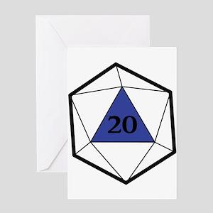 Natural 20 Greeting Cards