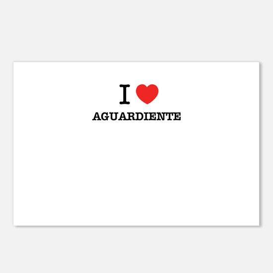 I Love AGUARDIENTE Postcards (Package of 8)