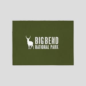 Deer: Big Bend National Park, Texas 5'x7'Area Rug