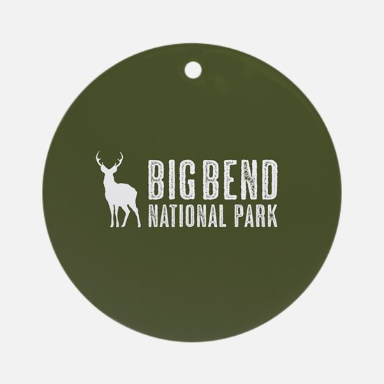 Deer: Big Bend National Park, Texas Round Ornament