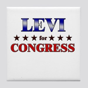 LEVI for congress Tile Coaster