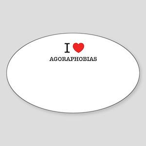 I Love AGORAPHOBIAS Sticker