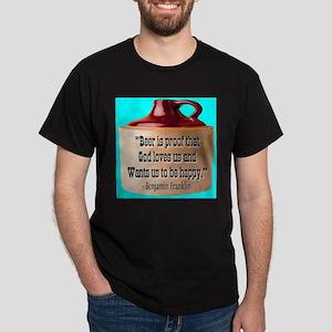 Benjamin Franklin on Beer Dark T-Shirt