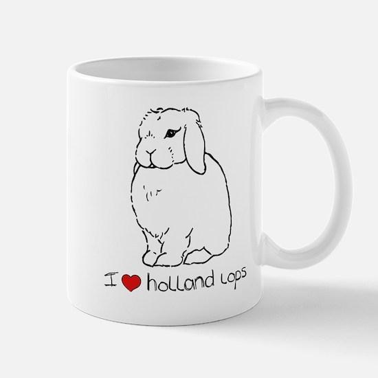 I Love Holland Lop Rabbits Mug
