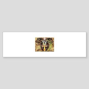 Eyes Of Gaia (Gold) Bumper Sticker