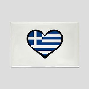 Greece Love Greek Rectangle Magnet